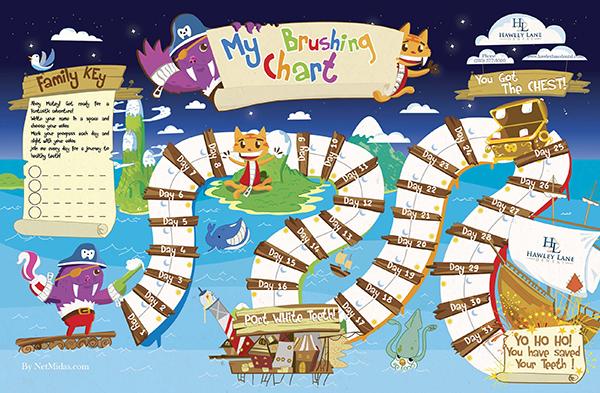 Kids Brushing Chart - Family Dental Care